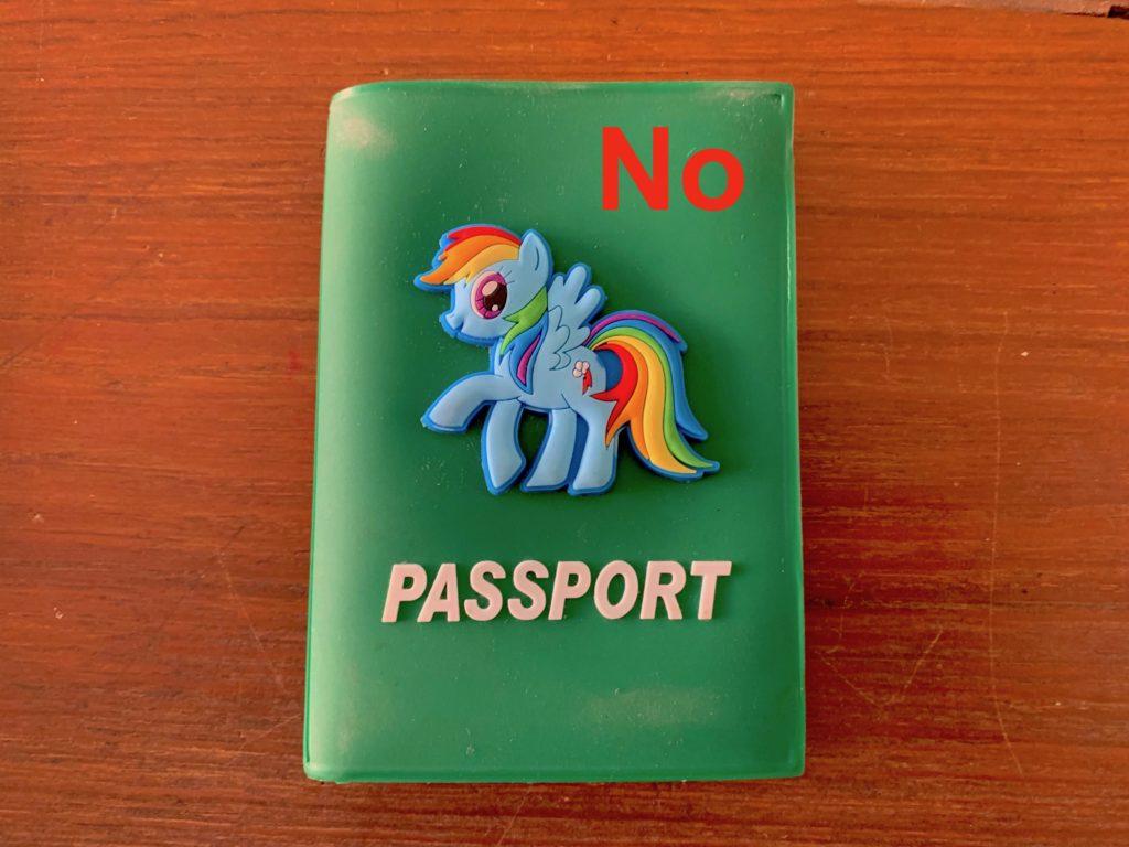 Viaggiare in Thailandia da sole: Porta Passaporto non adatto